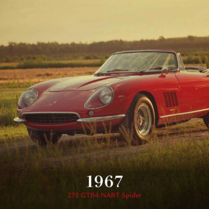 1967 Ferrari 275 GTB4 NART Spider car 70th Anniversary event