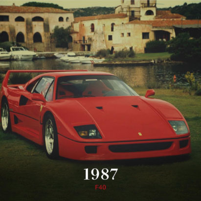 1987 Ferrari F40 car 70th Anniversary event
